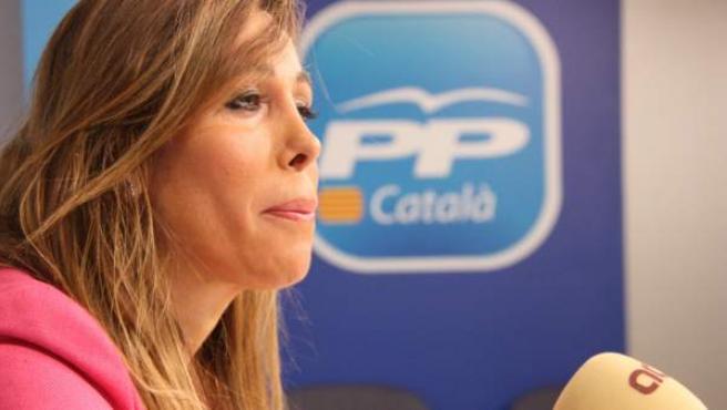 La líder del PPC, Alícia Sánchez, Camacho, durante una entrevista.