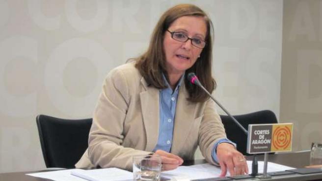 La diputada Carmen Sánchez, en la rueda de prensa