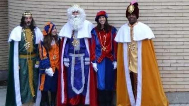 Los Reyes Magos visitan el Hospital Clínico de Zaragoza