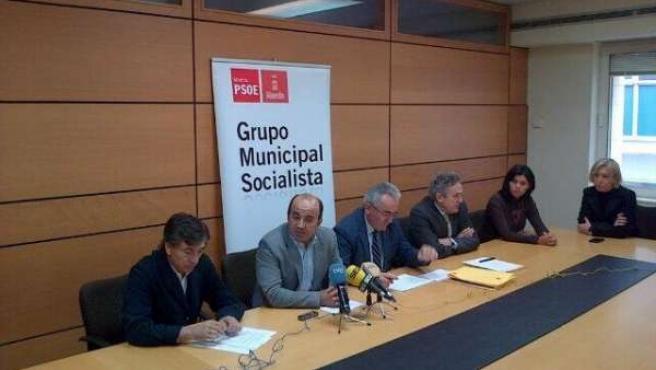 Pedro López, Alfonso Navarro y Francisco Oñate