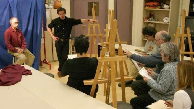 Imagen de un curso de pintura