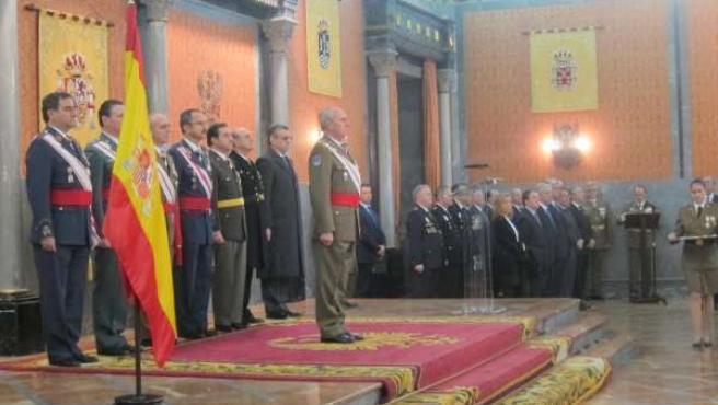 Celebración de la Pascua Militar de 2014 en Salón del Trono de Capitanía General