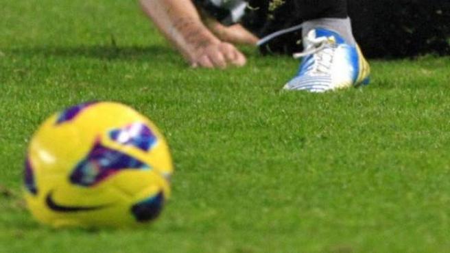 Un balón de fútbol.