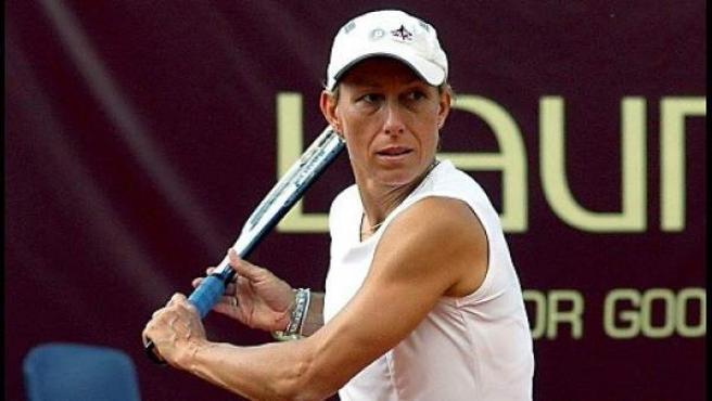 La extenista Martina Navratilova, ganadora de 18 títulos individuales del Grand Slam.