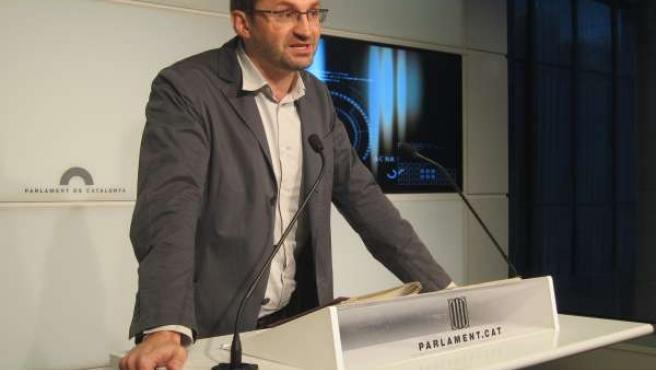 El líder de ICV-EUiA, Joan Herrera