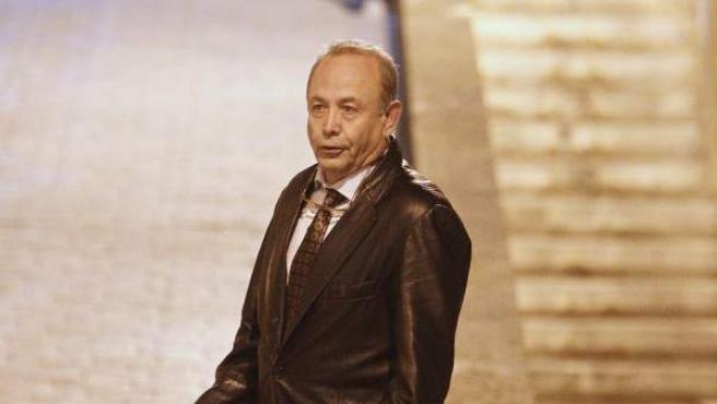 El juez José Castro, instructor del caso Palma Arena, a su salida esta madrugada de los Juzgados de Palma de Mallorca.