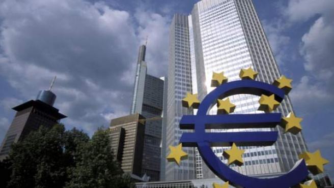 Una imagen del edificio que sirve de sede del Banco Central Europeo en Frankfurt.