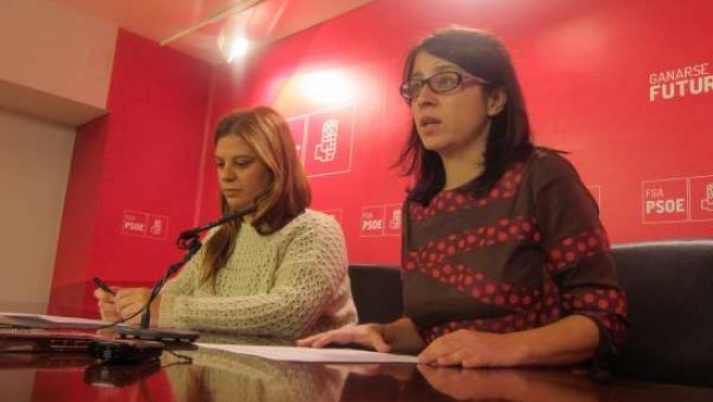 Por la izquierda, Llamedo y Lastra durante una rueda de prensa.