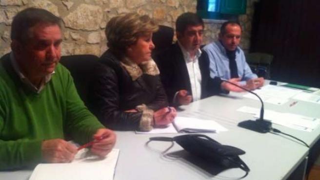 Francisco Reyes, en el Comité Comarcal del PSOE en la Sierra de Segura