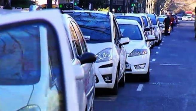 Curiosa huelga de taxis en Valencia