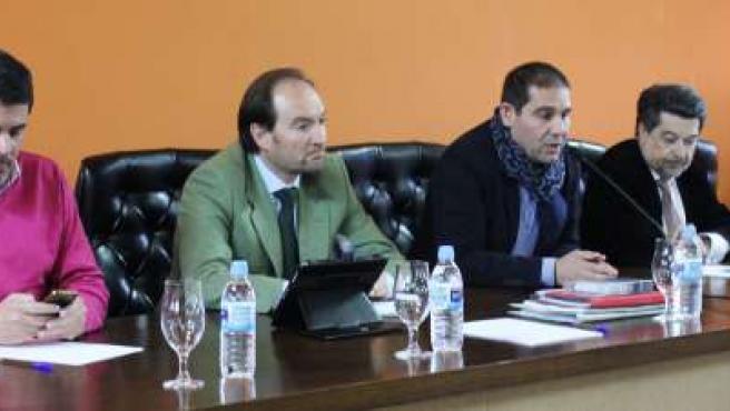Encuentro del sector del ibérico con el PSOE de Huelva.