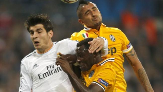 Álvaro Morata durante un partido del Real Madrid ante la Juventus.