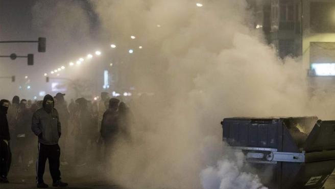 El barrio de Gamonal en Burgos ha vuelto a ser escenario de graves incidentes este sábado.