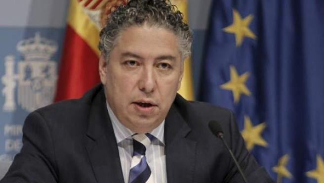 Imagen del secretario de Estado de la Seguridad Social, Tomás Burgos, durante una rueda de prensa.