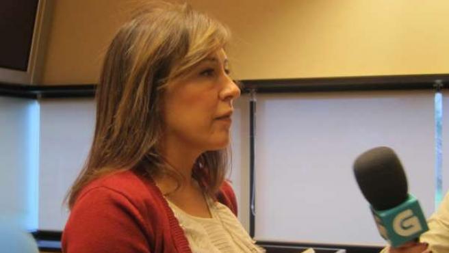La conselleira de Traballo e Benestar, Beatriz Mato, hace declaraciones