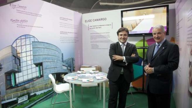 Diego Movellán y Javier Flor promocionan el Centro de Empresas de Camargo
