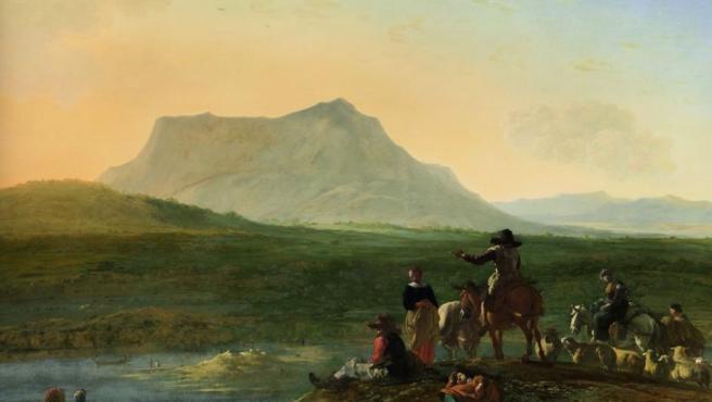 Obra del holandés Karel du Jardin (1622-1678), uno de los mejores paisajistas de su generación