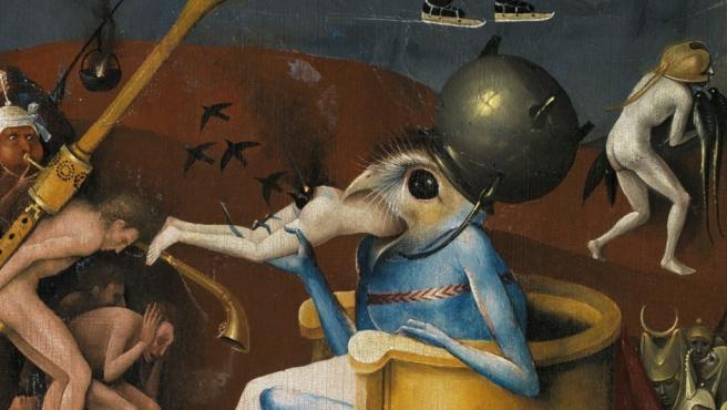 Detalle de El Jardín de las Delicias. Ésta escena, del panel derecho, representa al Infierno