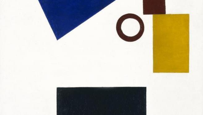 'Suprematismo: autorretrato en dos dimensiones', una de las obras abstractas con las que Malevich inauguró en 1915 el suprematismo