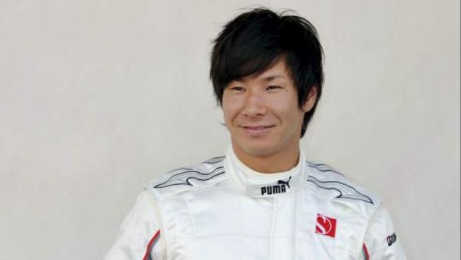 El piloto japonés de Fórmula 1 Kamui Kobayashi, durante una presentación en 2010.