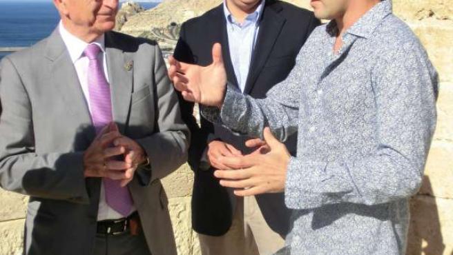 David Bisbal con el presidente de la Diputación en La Alcazaba