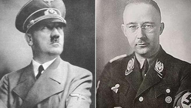Adolf Hitler y Heinrich Himmler, dirigentes de la Alemania nazi.