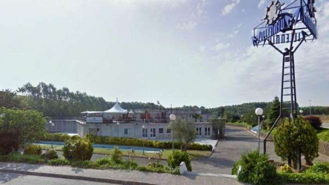 Una vista de la entrada de la discoteca Millenium, en la provincia de Girona.