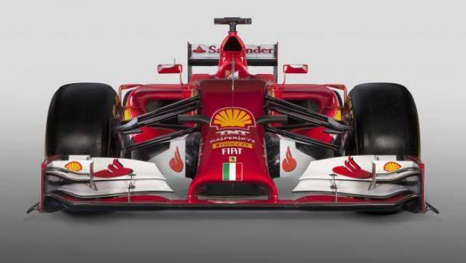 Imagen del nuevo F14 T, el coche de Ferrari para la temporada 2014.