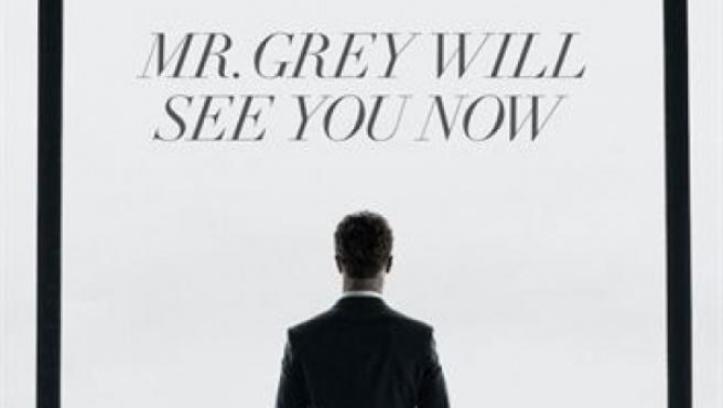 Primer cartel de la película de 'Cincuenta sombras de Grey'.