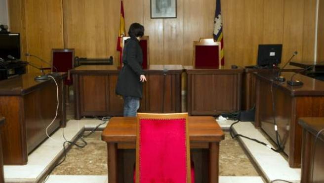 Sala del juzgado de instrucción número 3 de Palma de Mallorca.
