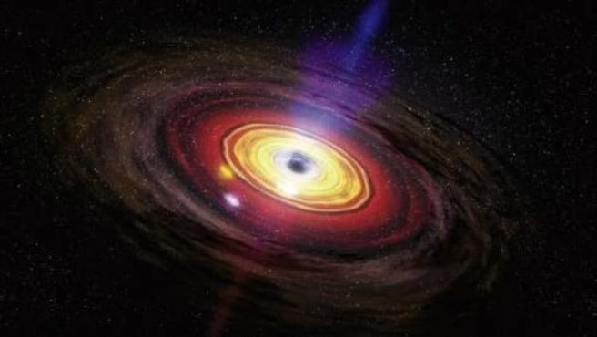 Imagen del agujero negro situado en el centro de la Vía Láctea.