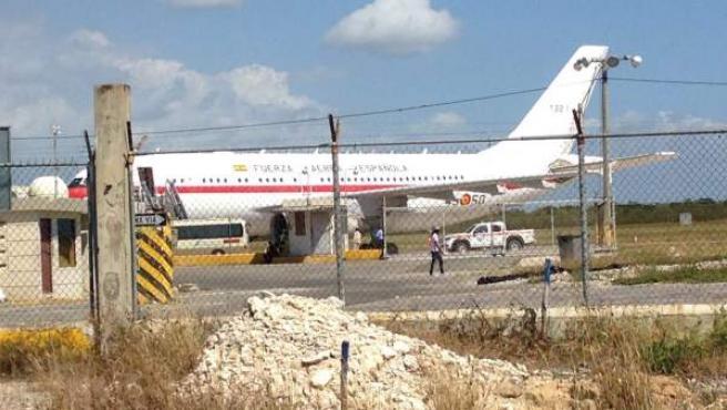 Avión de la Fuerza Aérea española que experimentó un error del circuito eléctrico cuando el príncipe de Asturias viajaba a Honduras y que posteriormente fue reparado.