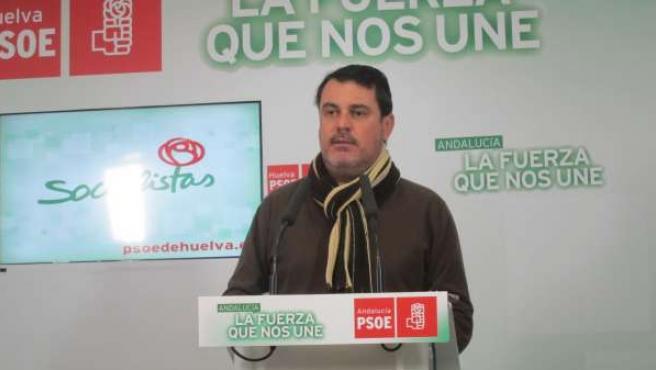 El secretario de Organizaición del PSOE de Huelva, Jesús Ferrera.