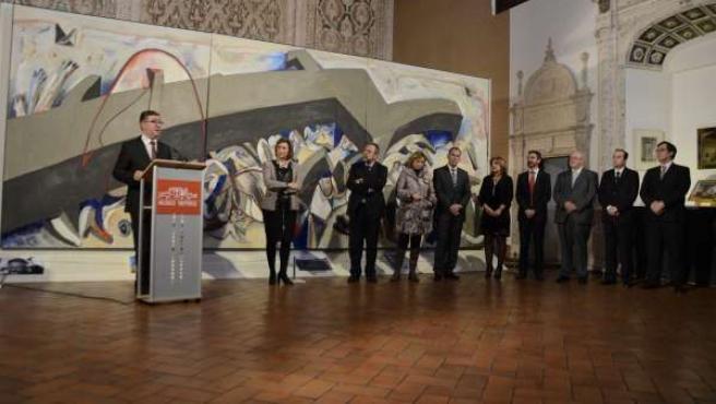 Marcial Marín, inauguración exposición SHOAH