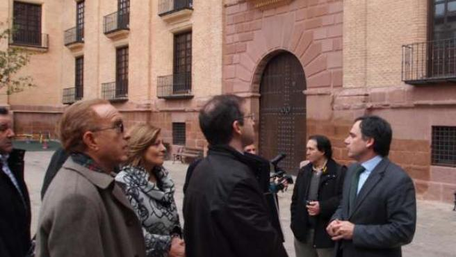 De Pedro ha visitado este lunes el Palacio de Condes de Argillo en Morata