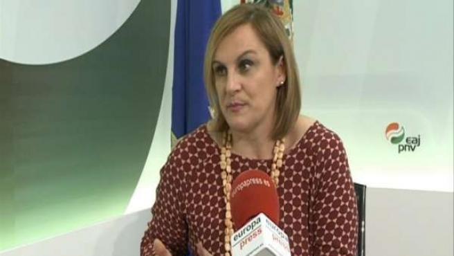 Itxaso Atutxa, presidenta del PNV en Vizcaya