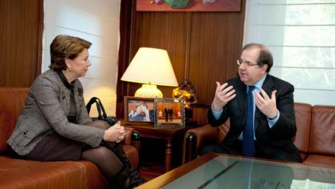 Reunión de Juan Vicente Herrera y Magdalena Álvarez