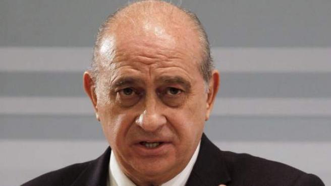 El ministro del Interior, Jorge Fernández Díaz, en una rueda de prensa.