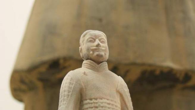Un guerrero de Xian, reproducido en 3D.