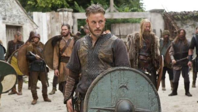 El actor Travis Fimmel en la serie 'Vikingos'.