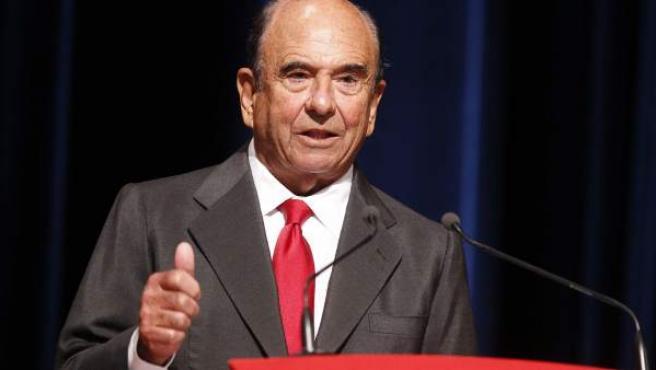 El que fuera presidente del grupo Santander, Emilio Botín, durante su intervención en la IV Conferencia Internacional de Banca.