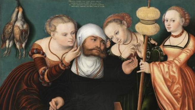 'Hércules en la corte de Onfalia' (1537), el óleo sobre tabla de Hans Cranach restaurado