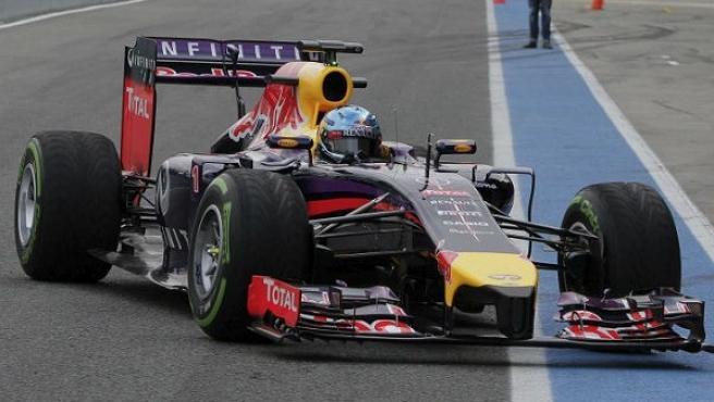 El RB10 no arranca en los test de Jerez.