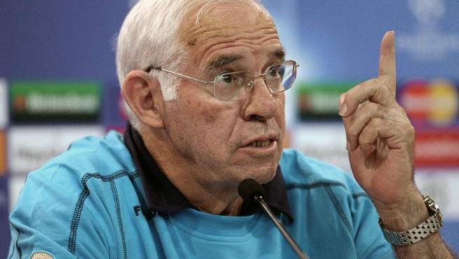 Fotografía de archivo de Luis Aragonés, exseleccionador nacional de fútbol, fallecido el 1 de febrero de 2014 en Madrid.