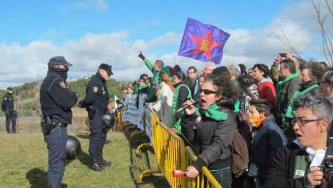Manifestación de la 'marea verde' en Valladolid, ante la Convención nacional del PP.