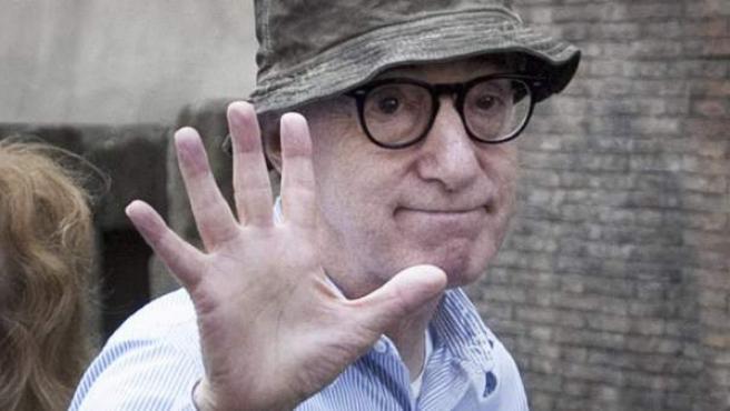Woody Allen , durante un rodaje en Italia.