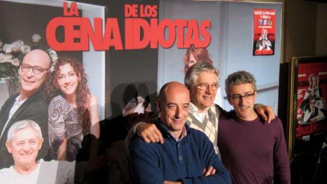 Felix Álvarex, Josema Yuste y David Fernández.. 'La cena de los idiotas'.