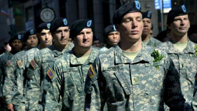 Imagen de archivo de un desfile de los soldados del Ejército estadounidense.