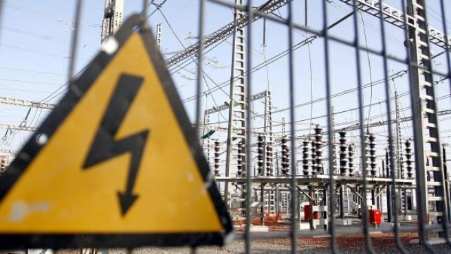Imagen de una subestación de energía eléctrica situada en Málaga.