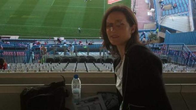 Lorena G.F., en una foto colgada en Facebook, detenida por la agresión a la esposa del periodista Paco González.